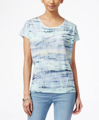 Style & Co. Printed Scoop-Neck T-Shirt, Only at Vogily