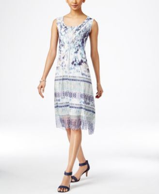 Style & Co. Printed Woven-Hem Dress, Only at Vogily