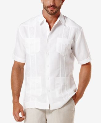Cubavera Short Sleeve Embroidered Guayabera Shirt