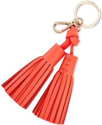 kate spade new york Double Leather Tassel Keychain Charm