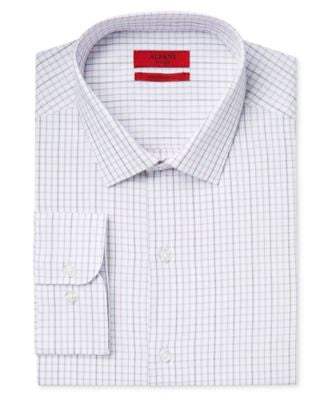 Alfani Men's Fitted Performance Tattersall Dress Shirt, Only at Vogily