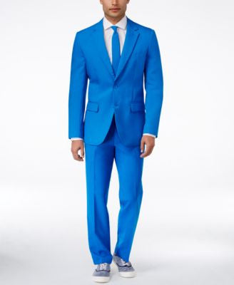 OppoSuits Blue Steel Slim-Fit Suit & Tie