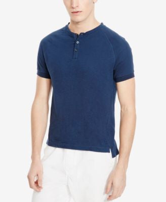 Kenneth Cole New York Men's Dressy Slub Short-Sleeve Henley