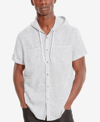 Kenneth Cole Reaction Men's Double-Pocket Short-Sleeve Hoodie