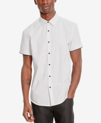 Kenneth Cole Reaction Men's Diamond-Pattern Short-Sleeve Shirt