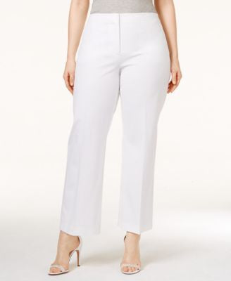 Alfani Plus Size Cropped Control Pants, Only at Vogily