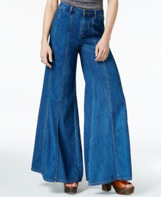 Free People Gilmour Dark Wash Wide-Leg Jeans