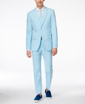 OppoSuits Cool Blue Slim-Fit Suit & Tie