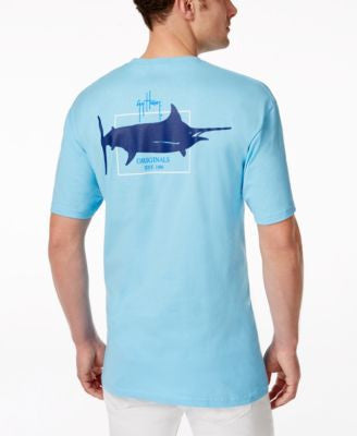 Guy Harvey Men's Solid Graphic Logo T-Shirt