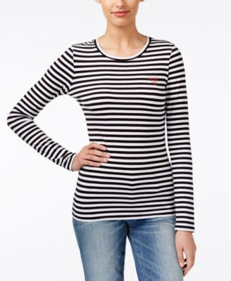 GUESS Striped Long-Sleeve T-Shirt
