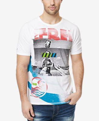 Buffalo David Bitton Men's Nafing Wrap-Around Graphic-Print T-Shirt