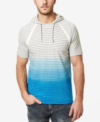 Buffalo David Bitton Men's Nanielot Ombré Stripe Short-Sleeve Hoodie T-Shirt