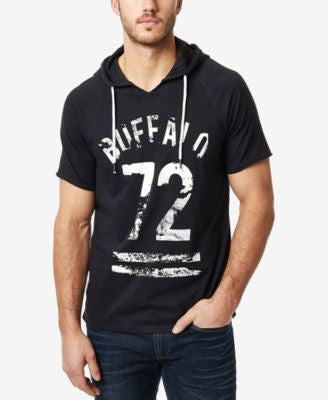 Buffalo David Bitton Men's Narkito Graphic-Print Short-Sleeve Hoodie T-Shirt