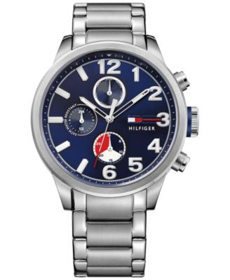 Tommy Hilfiger Men's Casual Sport Stainless Steel Bracelet Watch 44mm 1791242