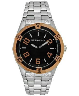 Sean John Men's Silver-Tone Bracelet Watch 51mm 10026862