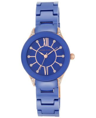 Anne Klein Women's Cobalt Blue Ceramic Bracelet Watch 30mm AK/2388RGCB