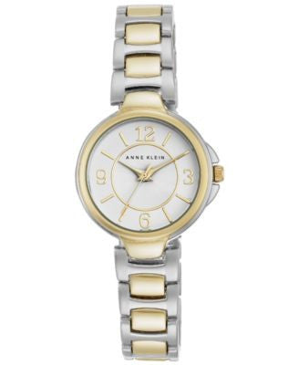 Anne Klein Women's Two-Tone Stainless Steel Bracelet Watch 28mm AK-2431WTTT