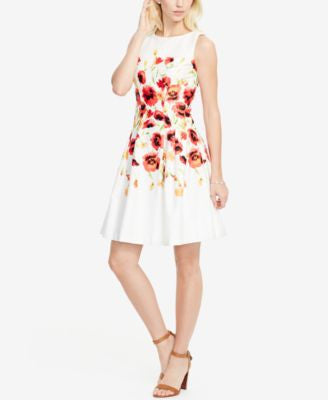 Lauren Ralph Lauren Floral-Print Sateen Dress