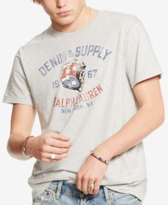Denim & Supply Ralph Lauren Men's Graphic Crew Neck T-Shirt