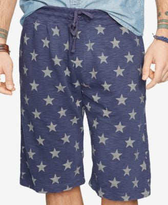 Denim & Supply Ralph Lauren Men's American Star-Patterned Jersey Athletic Shorts