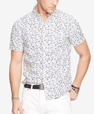 Denim & Supply Ralph Lauren Men's Floral-Print Cotton Sport Shirt