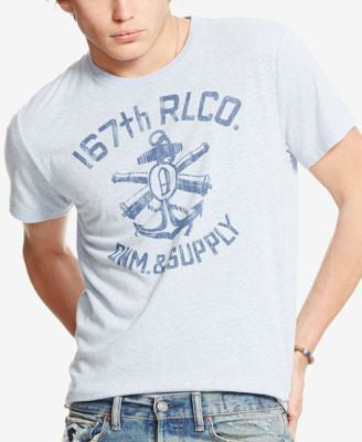 Denim & Supply Ralph Lauren Men's Graphic Jersey Crew Neck T-Shirt
