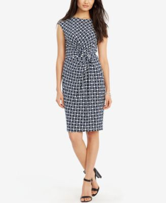 Lauren Ralph Lauren Printed Faux-Wrap Dress