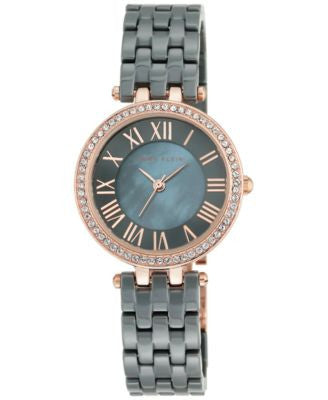 Anne Klein Women's Gray Ceramic Bracelet Watch 30mm AK/2200RGGY