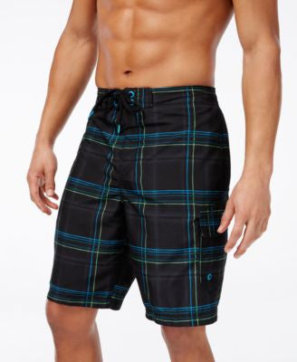 Speedo Men's Plaid Brushed Swim Trunks