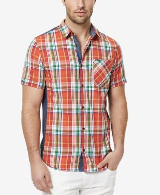 Buffalo David Bitton Men's Safret Plaid Short-Sleeve Shirt