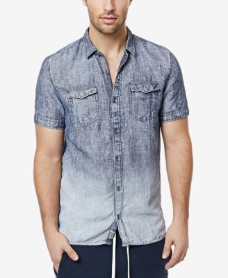 Buffalo David Bitton Men's Sarfogul Ombré Chambray Short-Sleeve Shirt