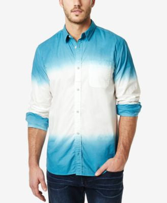 Buffalo David Bitton Men's Sagum Dip-Dye Colorblocked Long-Sleeve Shirt