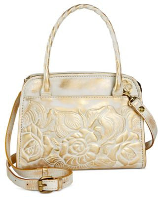 Patricia Nash Metallic Rose Paris Satchel