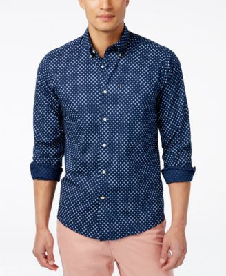 Barbour Men's Sawyer Geo-Print Long-Sleeve Shirt
