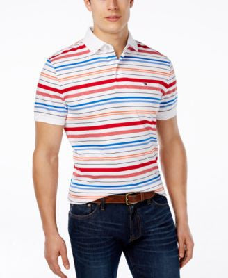 Tommy Hilfiger Men's Big and Tall Appy Stripe Polo