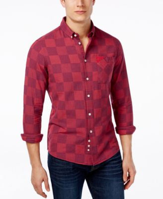 Barbour Men's Laundered Patchwork Long-Sleeve Shirt