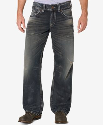 Silver Jeans Co. Men's Gordie Loose-Fit Straight Leg Jeans
