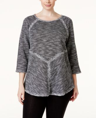 Calvin Klein Performance Plus Size Space-Dyed Knit Top