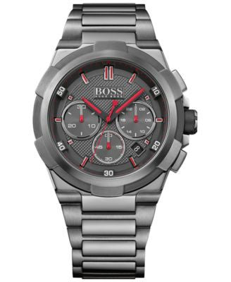 BOSS Hugo Boss Men's Chronograph Supernova Black Ion-Plated Stainless Steel Bracelet Watch 46mm 1513