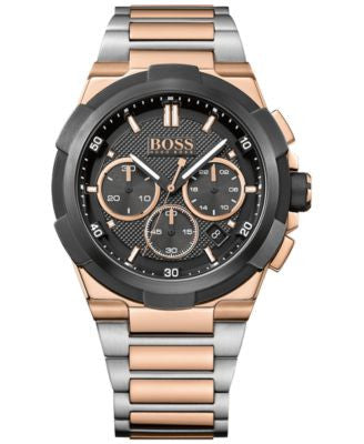 BOSS Hugo Boss Men's Chronograph Supernova Two-Tone Stainless Steel Ion-Plated Bracelet Watch 46mm 1