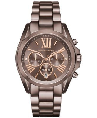 Michael Kors Women's Chronograph Bradshaw Sable Ion-Plated Stainless Steel Bracelet Watch 43mm MK624