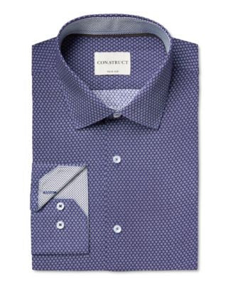 Con.Struct Men's Slim-Fit Floral-Print Dress Shirt