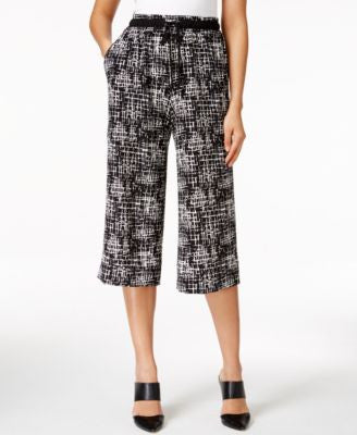 NY Collection Printed Gaucho Pants