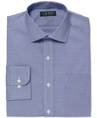 Lauren Ralph Lauren Men's Slim-Fit Non-Iron Micro-Check Dress Shirt