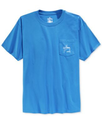 Guy Harvey Men's Marlin And Boat Graphic-Print Pocket T-Shirt