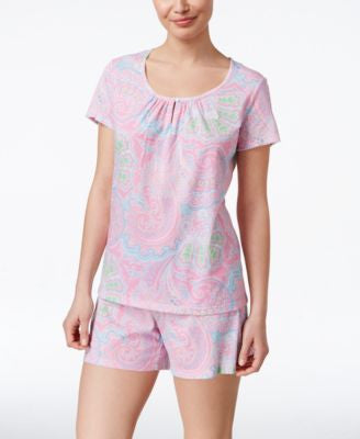 Lauren Ralph Lauren Scoop-Neck Boxer Pajama Set