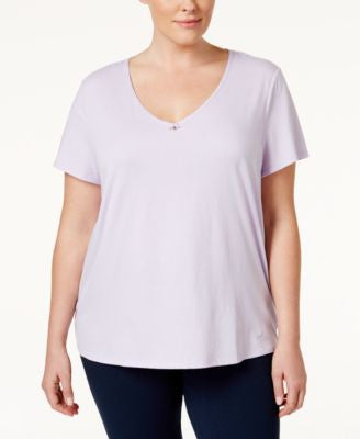 Nautica Plus Size V-Neck Pajama Top