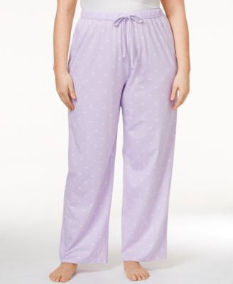Nautica Plus Size Printed Cotton Pajama Pants