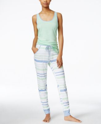 Nautica Solid Tank & Jogger Pajama Pants Sleep Separates
