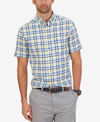 Nautica Men's Plaid Lightweight Short-Sleeve Shirt